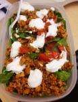 Turkey Taco Salad (has yogurt)
